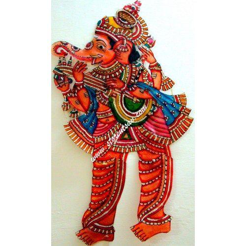 SOLD OUT - Buy Tholu Bommalata - Andhra Leather Puppet -Hindu God Lord Ganesha by www.storeutsav.com