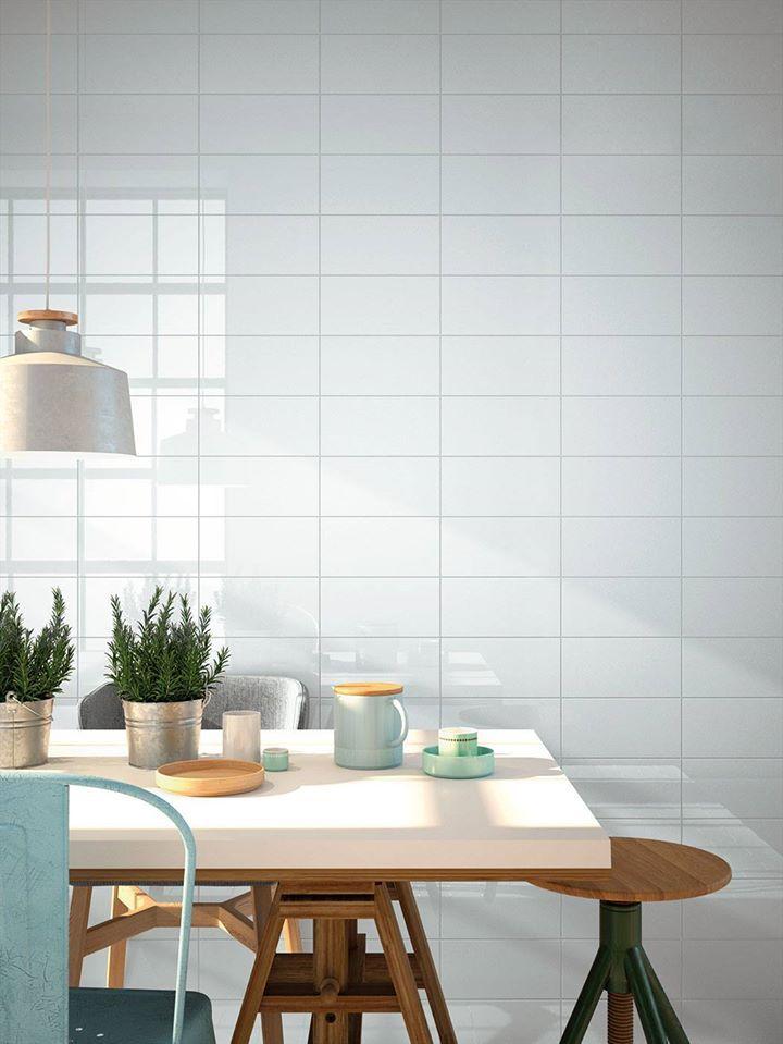 #Cocina de estilo rústico-industrial con #azulejos de la colección #ChicColors