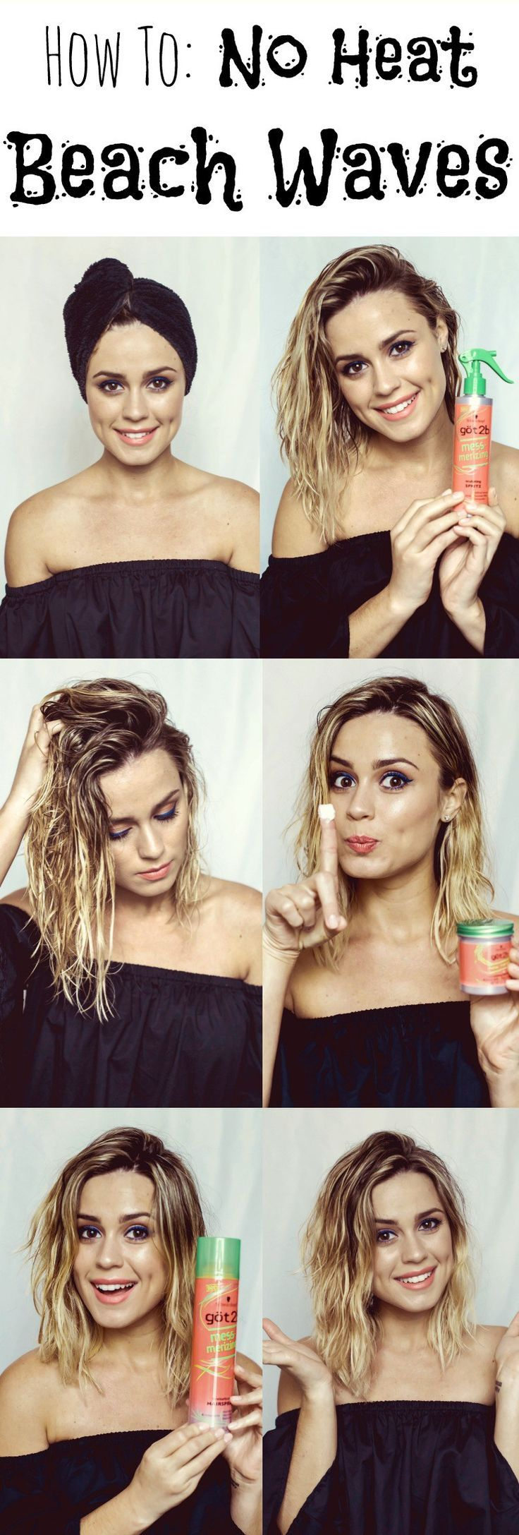 How to: No Heat Beach Waves Tutorial • Uptown with Elly Brown: