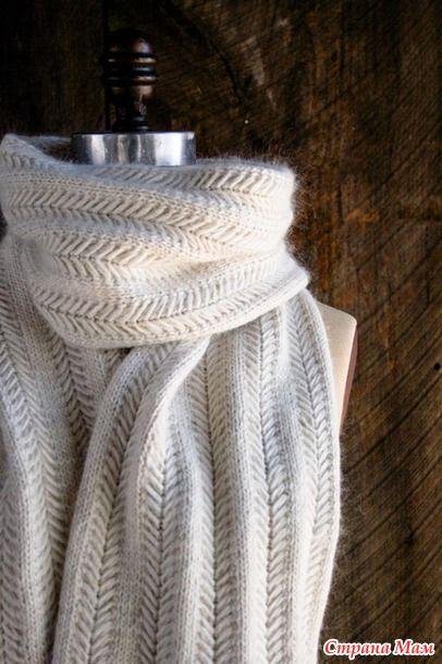 Текстурный узор для шарфа