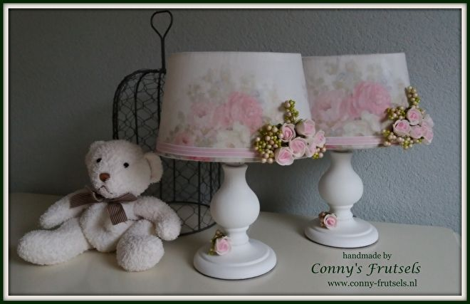 Lampshades decoupage