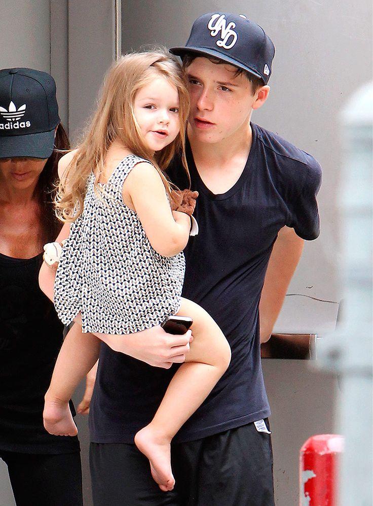 Harper & Brooklyn Beckham are adorable together