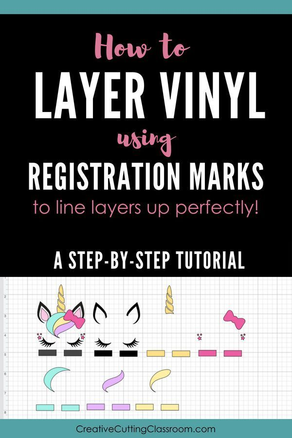 How To Layer Vinyl Using Registration Marks So The Layers