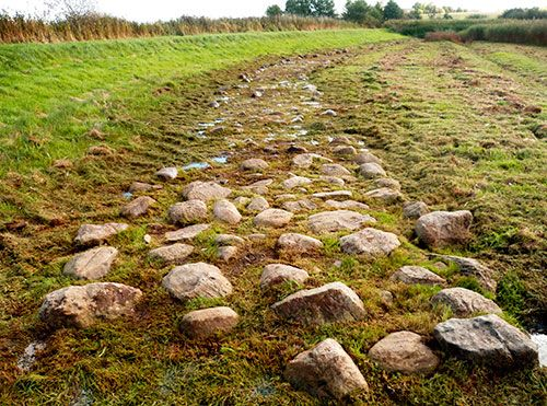 Prehistoric Road in Tisvilde Hegn is one of the oldest roads in the North.