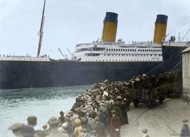 Photo taken on April 10, 1912, as the Titanic left Southampton, England, bound for New York.