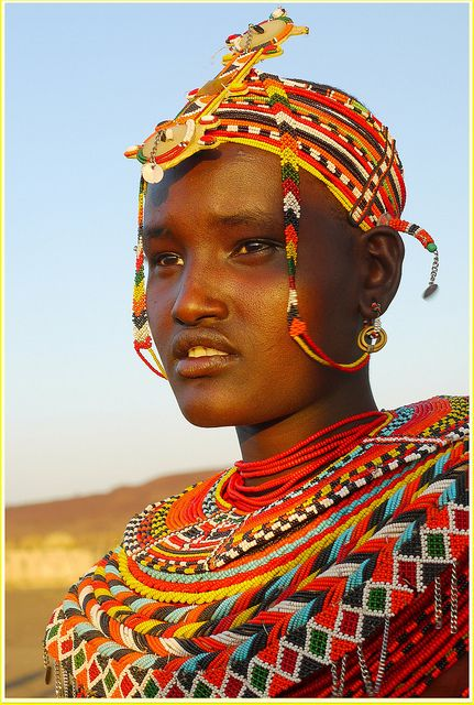 The Rendille people inhabits the arid region of northern Kenya. Just like the Borana Oromo people, they are classified under the broad Eastern Cushitic peoples.