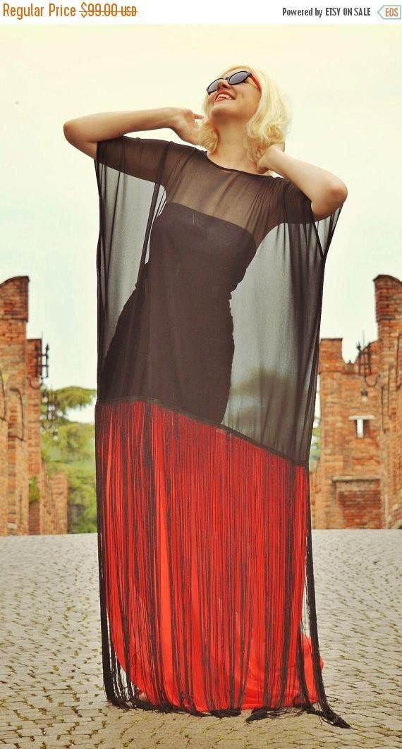 SALE 30% OFF Black and Red Maxi Dress Summer Sheer Dress with https://www.etsy.com/listing/279914108/sale-30-off-black-and-red-maxi-dress?utm_campaign=crowdfire&utm_content=crowdfire&utm_medium=social&utm_source=pinterest