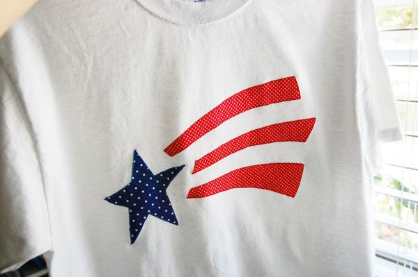 Create a t-shirt with your #Cricut with the Stand and Salute cartridge for Independence day!