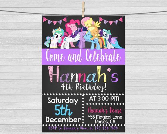 My Little Pony Invitation My Little Pony por maoPartyPrintables