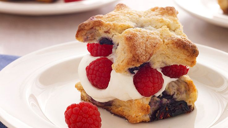 Baker Kathleen King, founder and owner of Tate's Bake Shop in Southhampton, NY, turns these shortcake-scone hybrids into festive stars, but you can make them any shape you'd like: round, square or even half-moon.