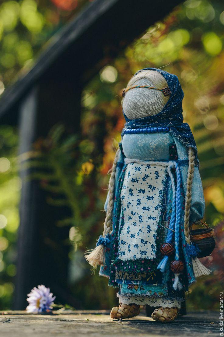Купить Доля - голубой, народная кукла, народная традиция, руслана, лапти, судьба, подарок