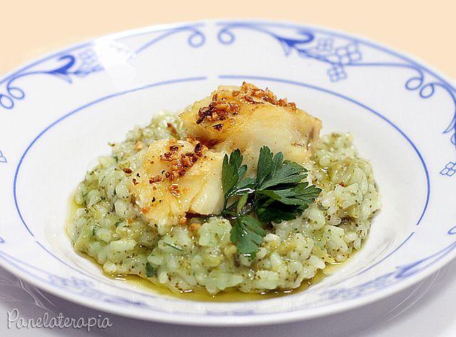 Risoto de Brócolis com Lombo de Bacalhau no Azeite de Alho ~ PANELATERAPIA - Blog de Culinária, Gastronomia e Receitas