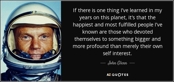 """Discover John Glenn famous and rare quotes. Share John Glenn quotations about walking, age and moon. """"If there is one thing I've learned in..."""""""