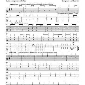 Aladdin or The Wonderful Lamp by Ida Hampden - guitar tablature