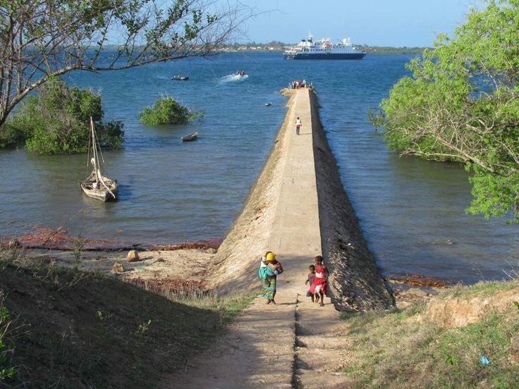 Most visitors to Kilwa Kisiwani Island, Tanzania, arrive on this jetty.