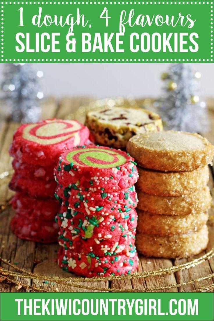 1 Basic Dough 4 Slice And Bake Christmas Cookie Recipes Recipe Cookies Recipes Christmas Cookie Recipes Basic Cookies
