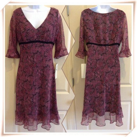 "Empire Waist Dress Shana 100% polyester empire waist dress. Measurements: armpit to armpit-20"" across. Shanna Dresses"
