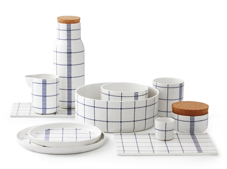 Mormor Blue Egg Cup + Series, @Normann Copenhagen. Design by Gry Fager.