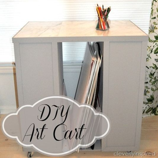 DIY art cart @cleverlyinspired (6)