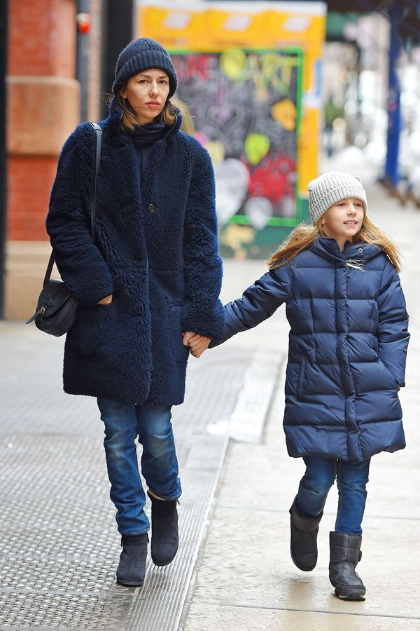 Sofia Coppola and daughter Romy Mars out for a stroll January 2015 | radaronline.com