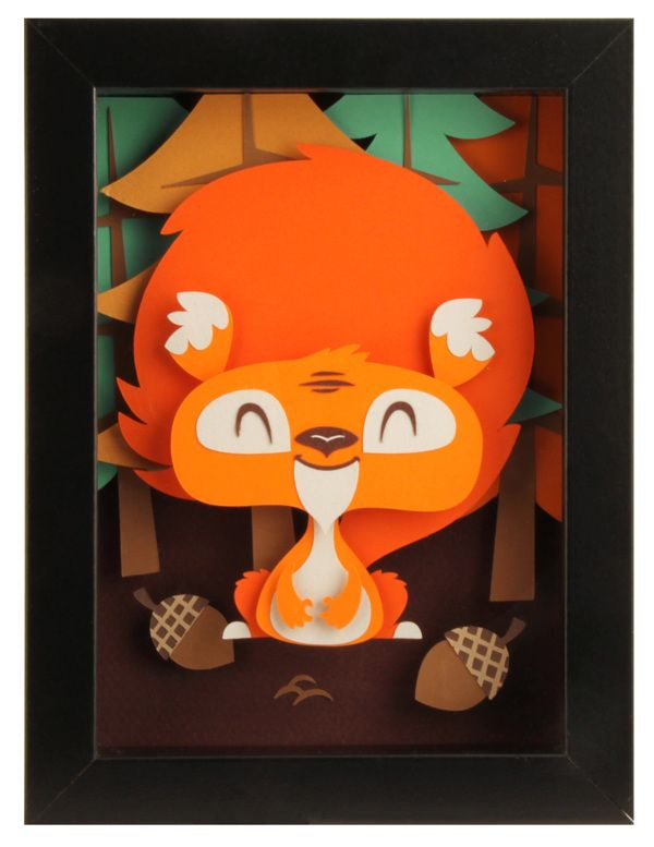 Squirel - Paperframe on Behance - Tougui Paper Art