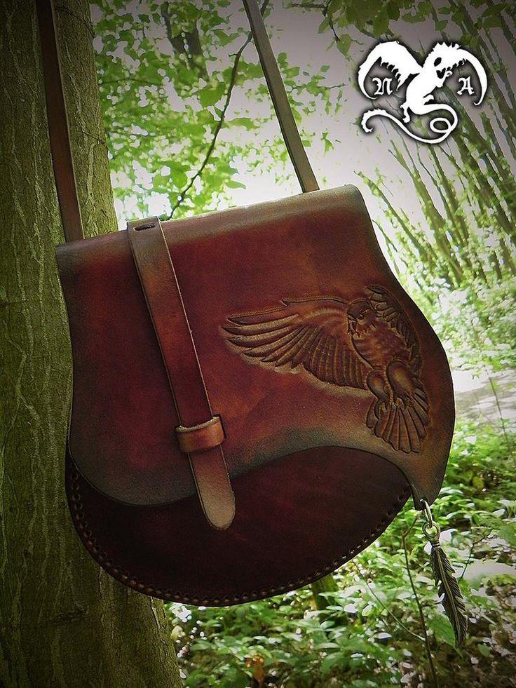 Flying owl leather bag by Noir-Azur on deviantART