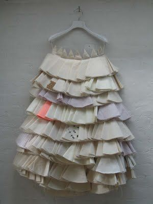 Alison Willoughby Skirt 203 is a skirt made from calico circles folded into 8 and sewn down in layered lines.