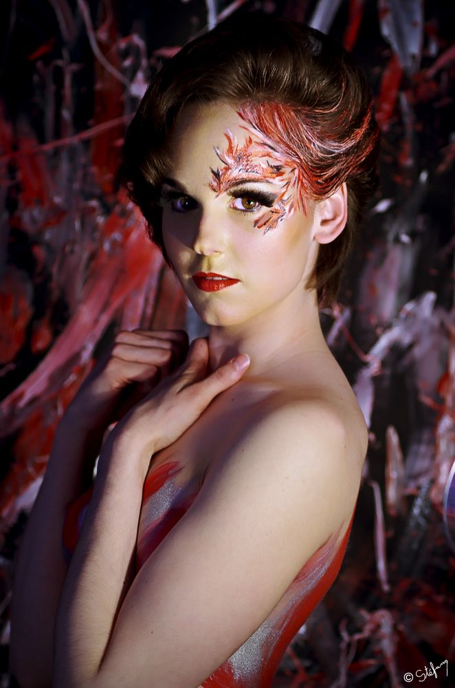Andrea looking goog in Red Collision #photography #art #StefanoShootings