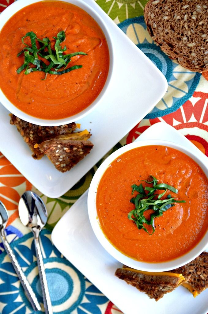 Dreamy Vegan Tomato Soup. I have to make some ahead of time for when cold season comes next year!