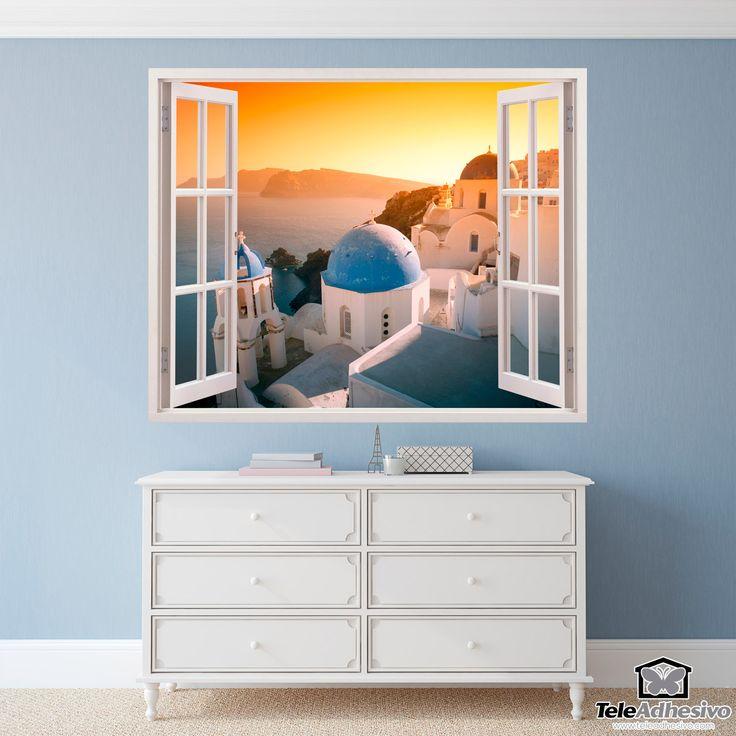 Stickers muraux Coucher de soleil à Santorin