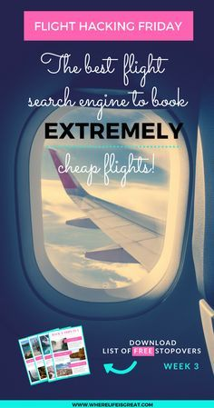 Today on #FlighthackingFriday: best flight search engine to book extremely cheap flights! Get these hot travel deals now!