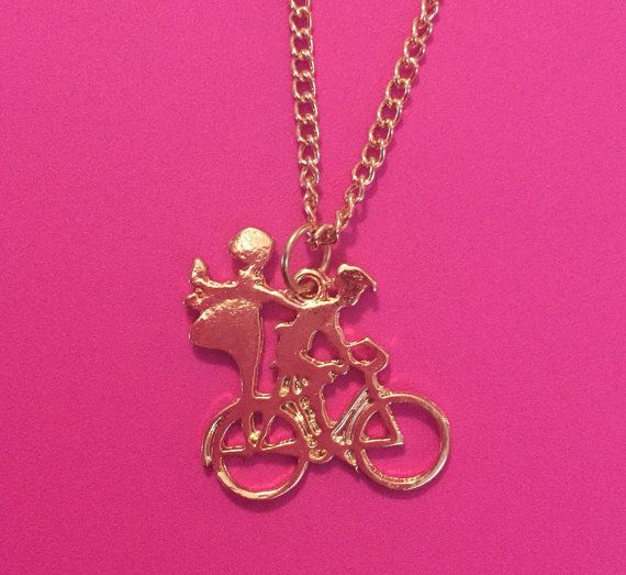 Couple BicyclingCouple JewelryLove by TheTinyMustardSeed on Etsy