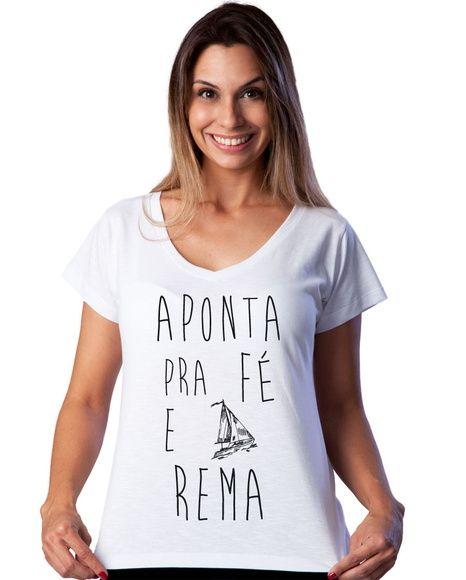 Camiseta Feminina Fé - Estampa preta Estúdio Estampare Elo7
