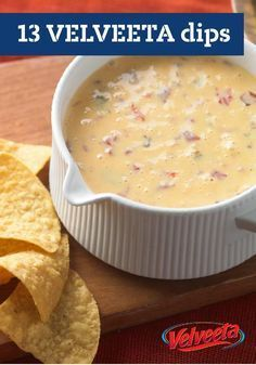 13 VELVEETA Dips — Entertain your crowd with these warm, VELVEETA cheese dips. From classic Queso Dip to Zesty Ranch, these top rated VELVEETA cheese dips will be the hit of the party.