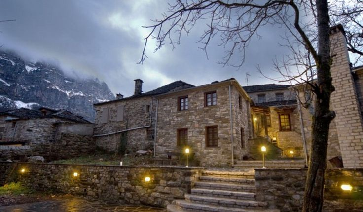 In #Αρχοντικό_Γκέκη_1876 #Zagoria #Papigo enjoy the magical atmosphere of the Papigo! #travel #traveling #wanderlust #landscape #view #winter #cold #weather #holidays