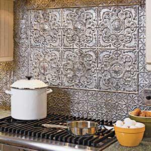 Best 25+ Tin tile backsplash ideas on Pinterest   Kitchen backsplash tin, Tin  backsplash for kitchen and Metal ceiling tiles