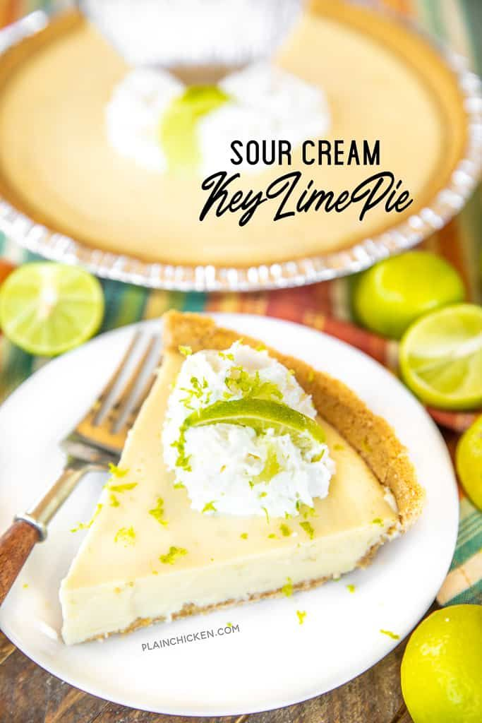 Sour Cream Key Lime Pie To Die For Delicious So Simple And It Tastes Amazing We Made Two Of In 2020 Key Lime Pie Easy Sour Cream Lemon Pie Recipe Condensed Milk