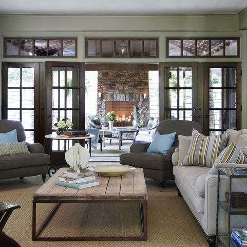 Restoration Hardware Furniture Family Room Design Ideas, Pictures, Remodel and Decor