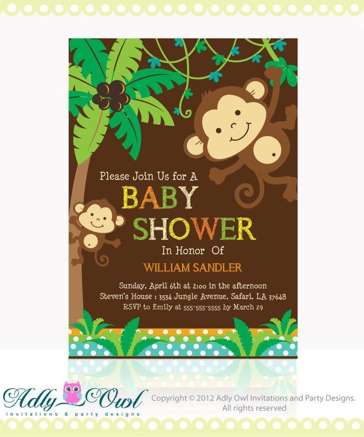 monkey themed baby shower baby shower monkey and monkey baby shower