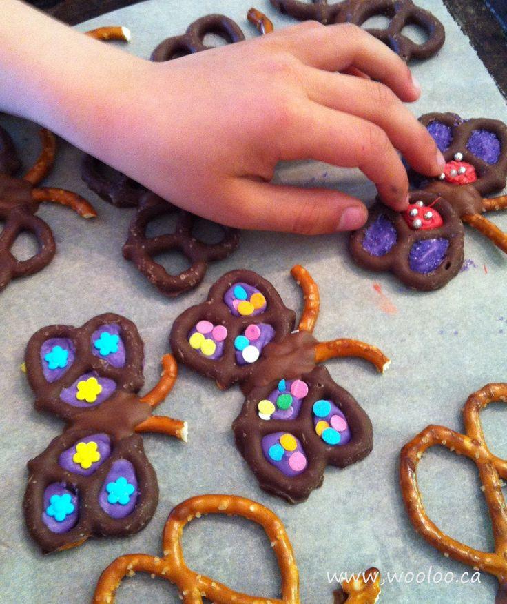 Wooloo | Des papillons préparés à partir de bretzels