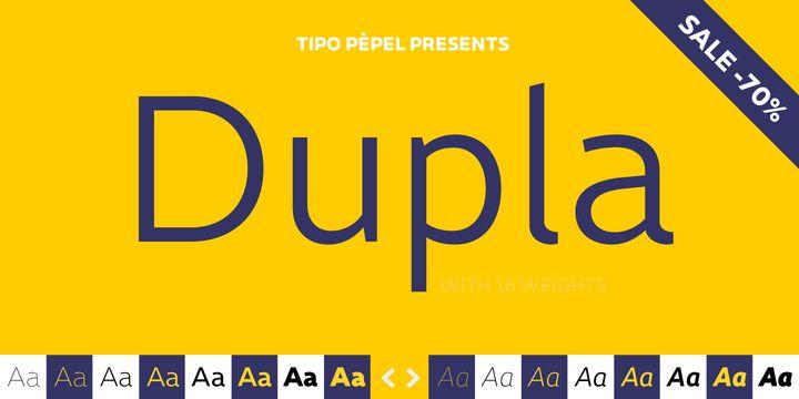 Dupla - Webfont & Desktop font « MyFonts
