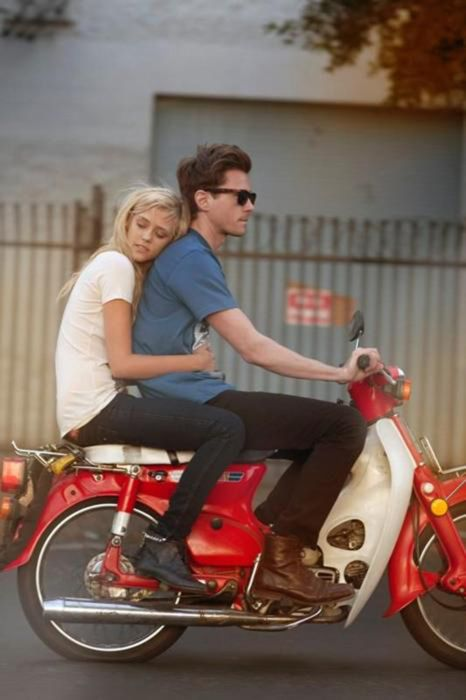 I love this picture - my parents courted on a honda 55!