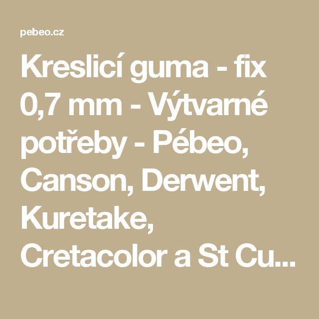 Kreslicí guma - fix 0,7 mm - Výtvarné potřeby - Pébeo, Canson, Derwent, Kuretake, Cretacolor a St Cuthberts Mill