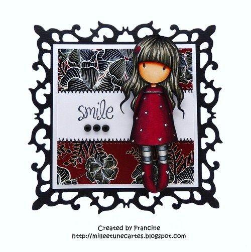 Card by Francine (1001 cards) - milleetunecartes.blogspot.com