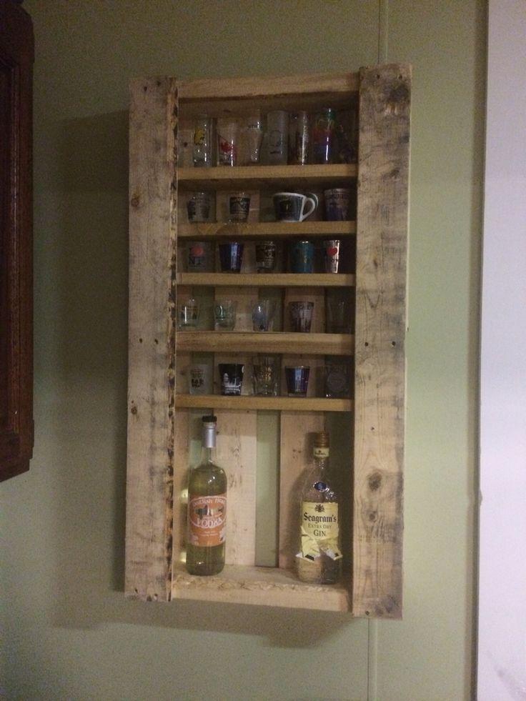 Shot glass/liquor holder from free pallet!