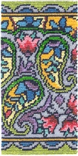 Paisley Eyeglass Case download pattern by Ann Benson
