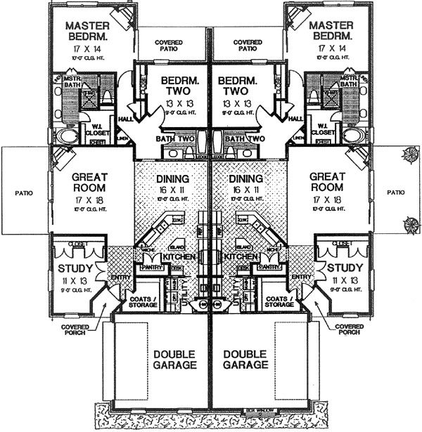 Best 25 duplex plans ideas on pinterest duplex house for Stacked duplex floor plans