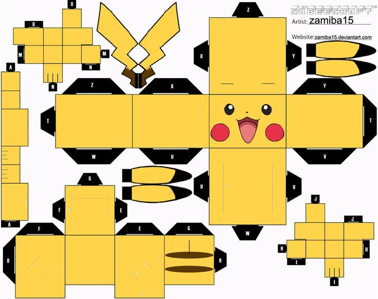Pikachu Cubeecraft by zamiba15