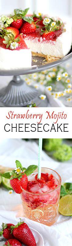 Strawberry Mojito Cake with mint and real cocktail flavour | Erdbeer Mojito Torte mit ordentlich Schuss und Minzblättern