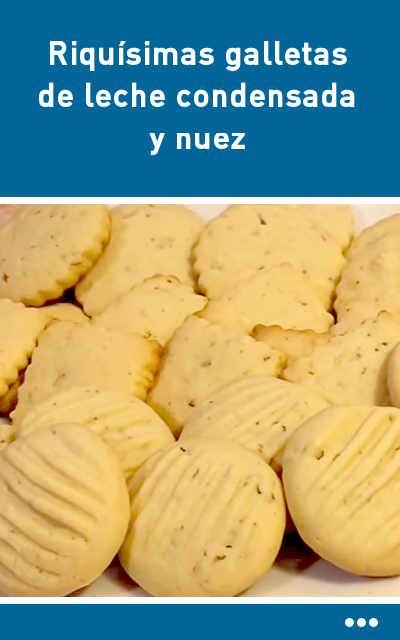 Riquísimas galletas de leche condensada y nuez